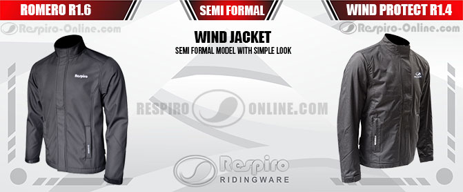 Jaket Respiro Wind Jacket Formal Look Banner Marketing Resmi dan Toko Online Jaket Respiro Ridingware